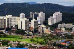 """O patrimônio mundial do UNESCO de Coreia situa fortaleza Hwaseong do †de """"e cidade de Suwon Imagens de Stock Royalty Free"""