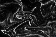 O patterne de mármore preto e branco, preto de mármore natural luxuoso Fotos de Stock