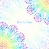 O pavão brilhante do vetor do arco-íris empluma-se o fundo ilustração stock