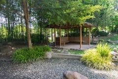 O pavilhão no jardim japonês Fotos de Stock