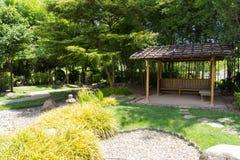 O pavilhão no jardim japonês Imagem de Stock Royalty Free