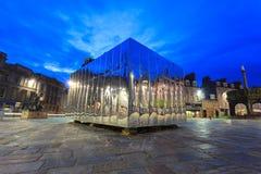 O Pavillion espelhado na porta do castelo para o festival da arte visual e do projeto imagem de stock royalty free