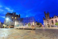 O Pavillion espelhado na porta do castelo para o festival da arte visual e do projeto fotografia de stock royalty free