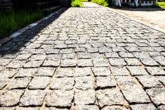 O pavimento de pedra dos blocos fotografia de stock