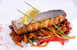 O peixe é um salmão Fotografia de Stock Royalty Free