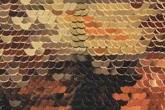O peixe escala brilhante dourado vislumbra em cores diferentes glamorous fotografia de stock