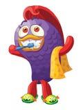 O peixe limpa os dentes Caráter do vetor Imagens de Stock