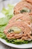 O peixe rola com queijo Imagens de Stock Royalty Free