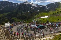 O Peloton nas montanhas Foto de Stock Royalty Free