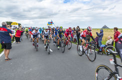O Peloton no início do Tour de France 2016 Foto de Stock