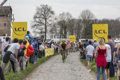 O Peloton - Paris-Roubaix 2018 Foto de Stock Royalty Free