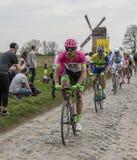O Peloton - Paris-Roubaix 2018 Foto de Stock Royalty Free
