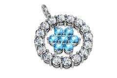 O pendente do diamante da beleza ilustração stock