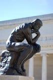 O pensador por Rodin Foto de Stock