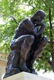 O pensador por Rodin Fotografia de Stock