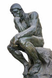 O pensador - uma das esculturas as mais famosas por Auguste Rodin Foto de Stock Royalty Free