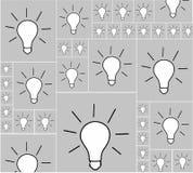 O pensamento dos ícones e a ideia vieram Imagem de Stock