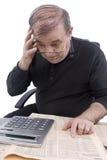 O pensionista conta Imagem de Stock