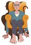 O pensionista triste relaxa Fotos de Stock Royalty Free