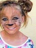 O penteado aponta a menina do feriado da alegria da infância Imagem de Stock Royalty Free