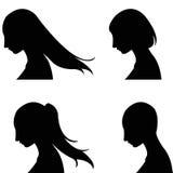o penteado das mulheres Fotos de Stock