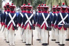 6o período de Saboya do regimento de infantaria vestido Fotos de Stock