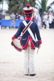 6o período de Saboya do regimento de infantaria vestido Imagens de Stock Royalty Free