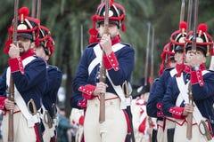 6o período de Saboya do regimento de infantaria vestido Foto de Stock