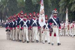 6o período de Saboya do regimento de infantaria vestido Imagem de Stock Royalty Free