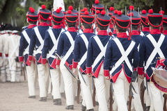 6o período de Saboya do regimento de infantaria vestido Fotos de Stock Royalty Free