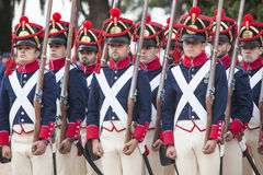 6o período de Saboya do regimento de infantaria vestido Fotografia de Stock Royalty Free