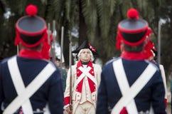 6o período de Saboya do regimento de infantaria vestido Foto de Stock Royalty Free