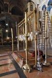 O peregrino prays passionately Foto de Stock Royalty Free