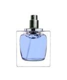 O perfume das mulheres na garrafa bonita isolada no branco Fotografia de Stock