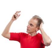 O perfume de pulverização da fragrância do indivíduo dos esportes Fotografia de Stock Royalty Free
