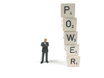 O perigo da potência imagem de stock royalty free