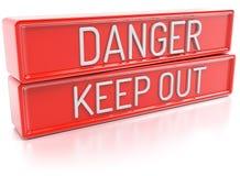 O perigo mantém para fora - 3D para render Imagem de Stock