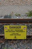 O perigo não infrinje o sinal Foto de Stock