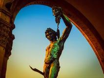O Perseus de Cellini com a cabeça do Medusa - Florença, Itália Fotos de Stock Royalty Free