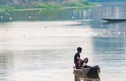 O pescador Imagens de Stock Royalty Free