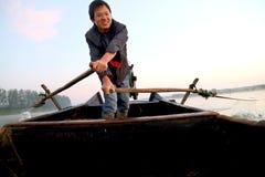 O pescador da felicidade Imagens de Stock