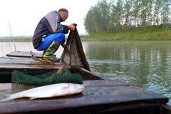 O pescador idoso Fotos de Stock