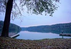 O pescador no amanhecer Foto de Stock Royalty Free