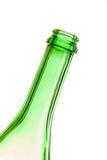O pescoço de uma garrafa vazia em um ângulo Foto de Stock