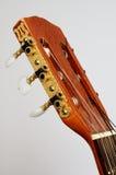 O pescoço principal da guitarra com ajustamento cavilha no cinza Fotografia de Stock Royalty Free