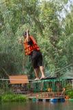 O pessoa de Ásia na aventura baseia o caminhante do céu Foto de Stock Royalty Free