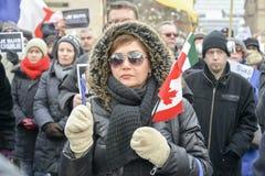 O pessoa de Toronto encontra-se em uma vigília Imagens de Stock Royalty Free