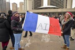 O pessoa de Toronto encontra-se em uma vigília Fotografia de Stock Royalty Free