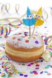 O Pfannkuchen tradicional Krapfen Foto de Stock Royalty Free