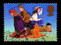 O Phoenix e o tapete (E Nesbit), serie das novelas da fantasia das crianças famosas, cerca de 1998 fotos de stock royalty free